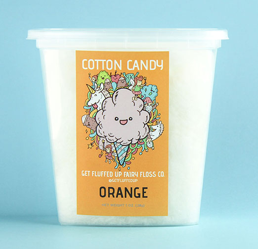 orange cotton candy